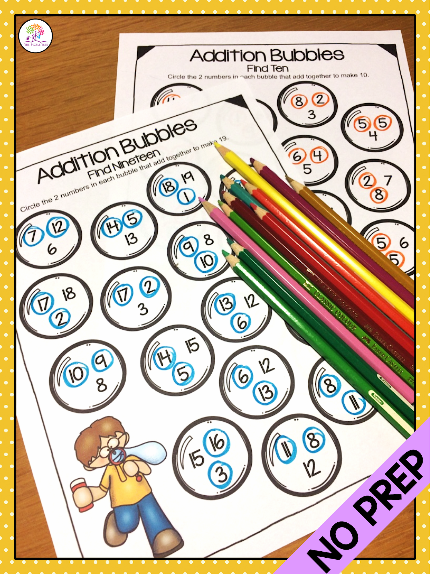 Addition Bubbles No Prep Math Worksheets For Addition To 20 These Worksheets Require No Prep Just Addition Worksheets Addition Facts Fun Homework Activities [ 2000 x 1500 Pixel ]