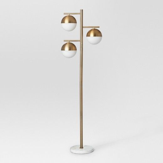 Geneva Glass Floor Lamp Triple Globe Brass Project 62 Target Target Floor Lamps Brass Floor Lamp Globe Floor Lamp