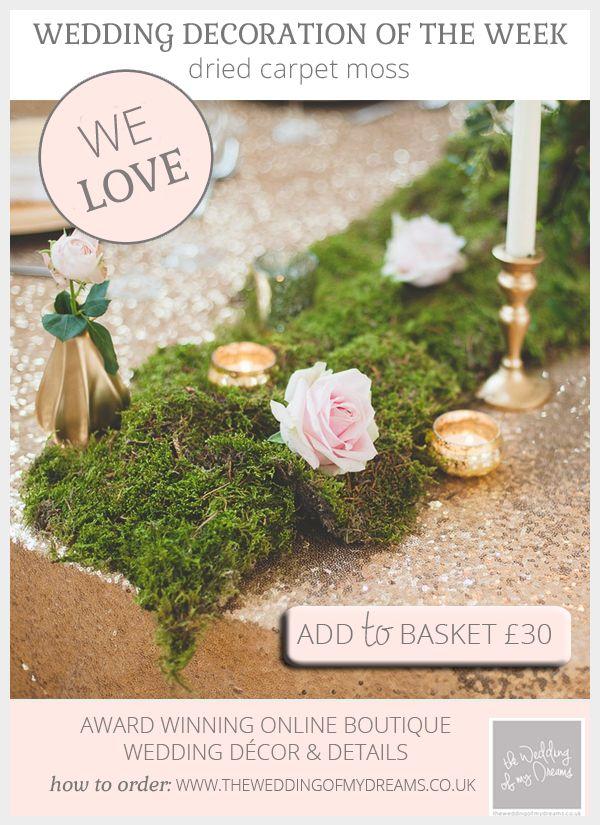 Dried Carpet Moss For Weddings Wedding Ideas Pinterest Wedding