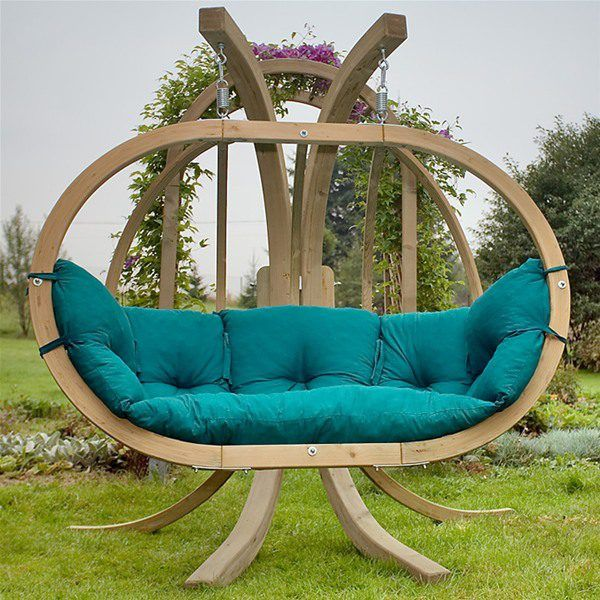 indoor swing chair for adults globo royal double wooden garden swing seat stand - Garden Furniture Swing Seats