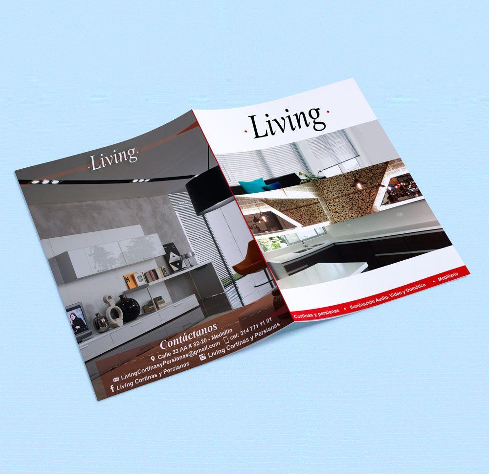 Diseño de brochure para empresa de soluciones integrales en diseño de interiores, Iluminacion, mobiliadrio, Domotica.