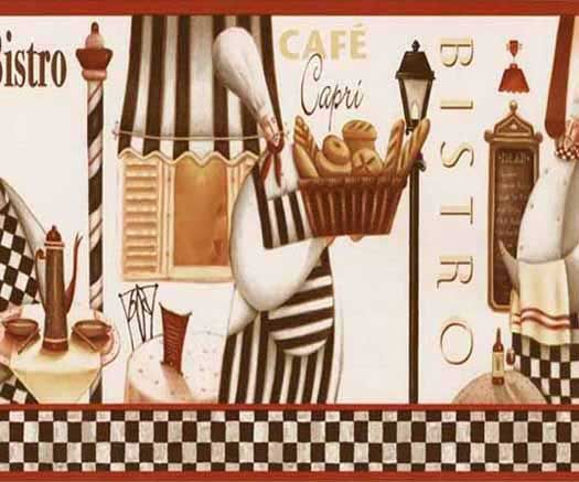French Chef Wallpaper Border