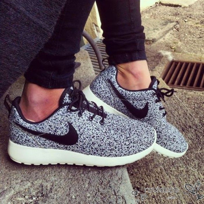 Nike Roshe Run Speckled White Womens Mens Shoes Sail Black - Nike Roshe Run a70972f6cb