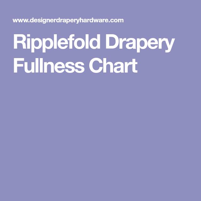 Ripplefold Drapery Fullness Chart Ripplefold Draperies Drapery Ripplefold Curtains