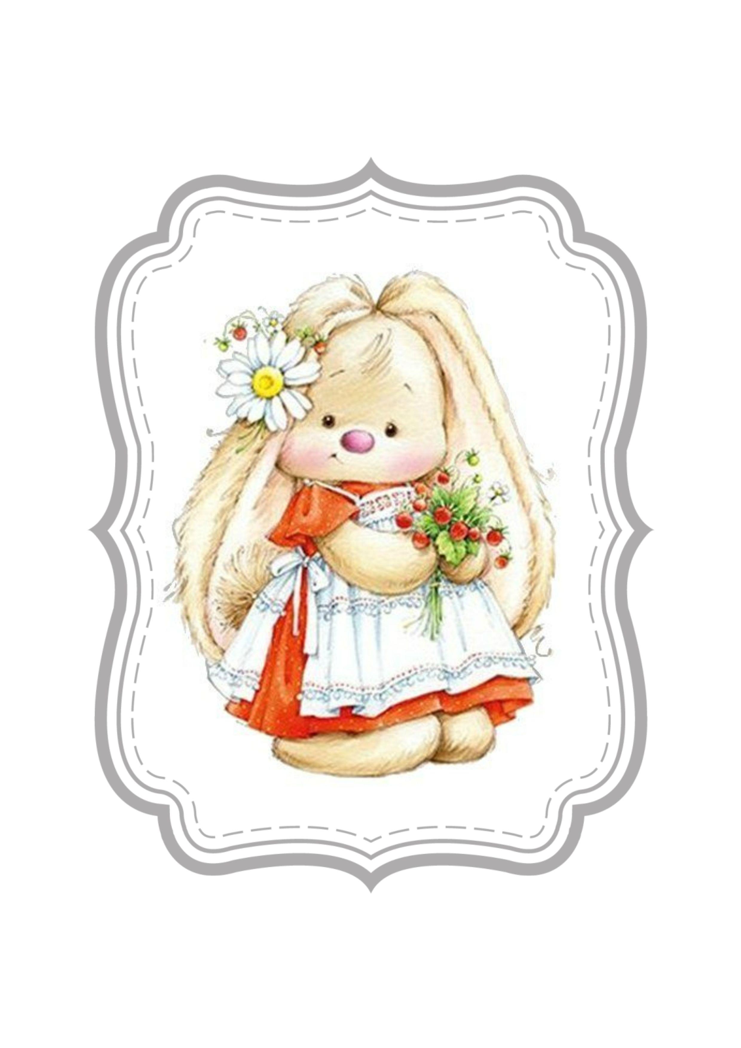 Marina Fedotova Animal clipart, Cute drawings, Cute bunny