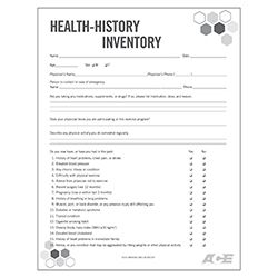 health history inventory form pinterest personal trainer