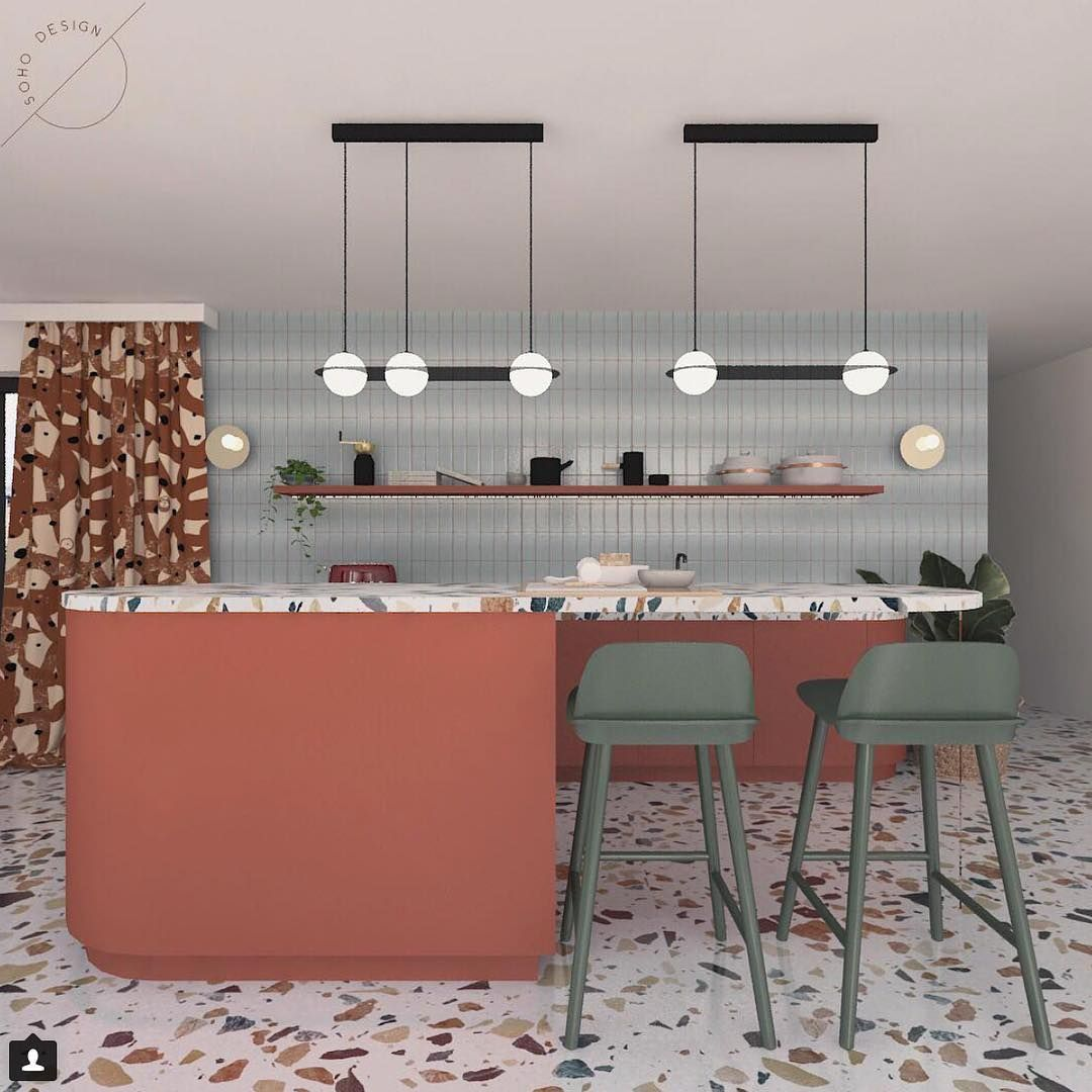 Awe Inspiring Stunning Use Of Terrazzo On The Bench Top And Floor Soho Gmtry Best Dining Table And Chair Ideas Images Gmtryco