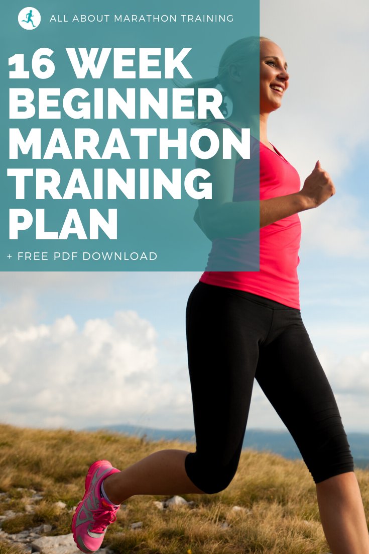 This beginner's marathon training plan is for the runner who is comfortable running about 4-6 miles or who has previously run a 10K race before.   Marathon Training Plan // Marathon Training for Beginners // Marathon Training Schedule // Marathon Training Tips // How to Train for a Marathon // All About Marathon Training