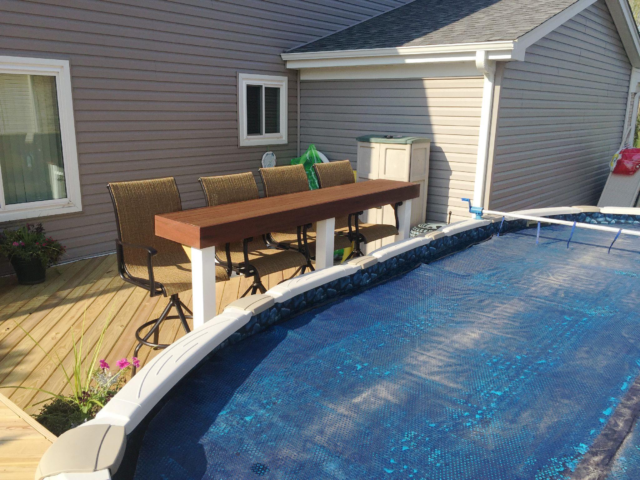 Pool Deck Design With Bar By Aurora Il Deck Builder Deck
