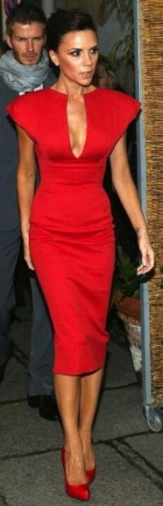 Victoria Beckham  - Love the neck and shoulder line of this dress, also the length of the skirt