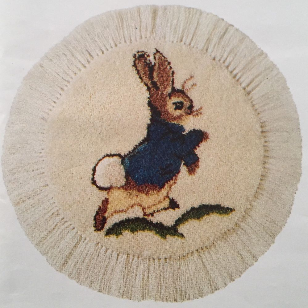 Peter Rabbit Latch Hook Cotton Canvas