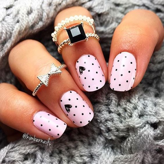 We love cute nail art designs.Have beautiful manicured nails is essential  for pretty girls who like to take care of it.These nail designs are as easy  as ... - We Love Cute Nail Art Designs.Have Beautiful Manicured Nails Is