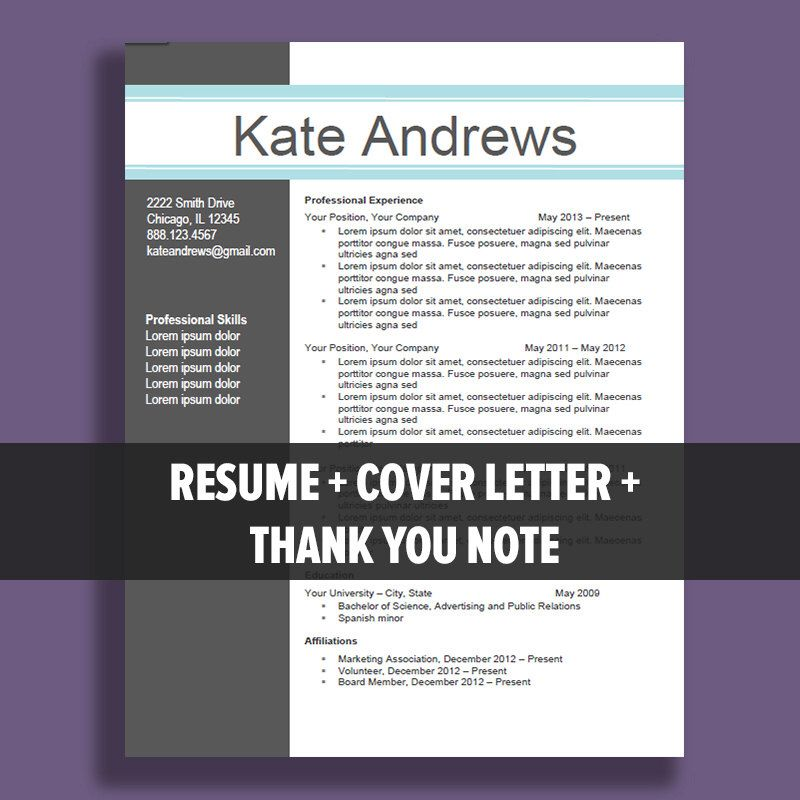 Resume Template Cover Letter, Thank You, References + Unlimited - Thank You Letters For References And Recommendations