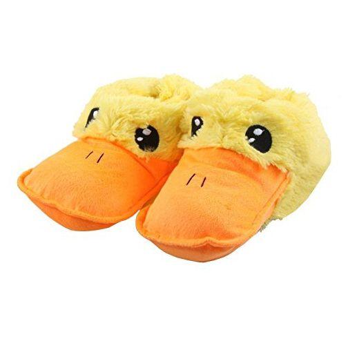 Tierhausschuhe Hausschuhe Ente Schnabel Plüsch Entenschnabel