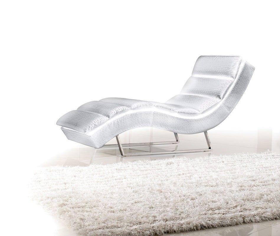 Divani Casa Trance Modern White Leatherette Chaise Koltuklar