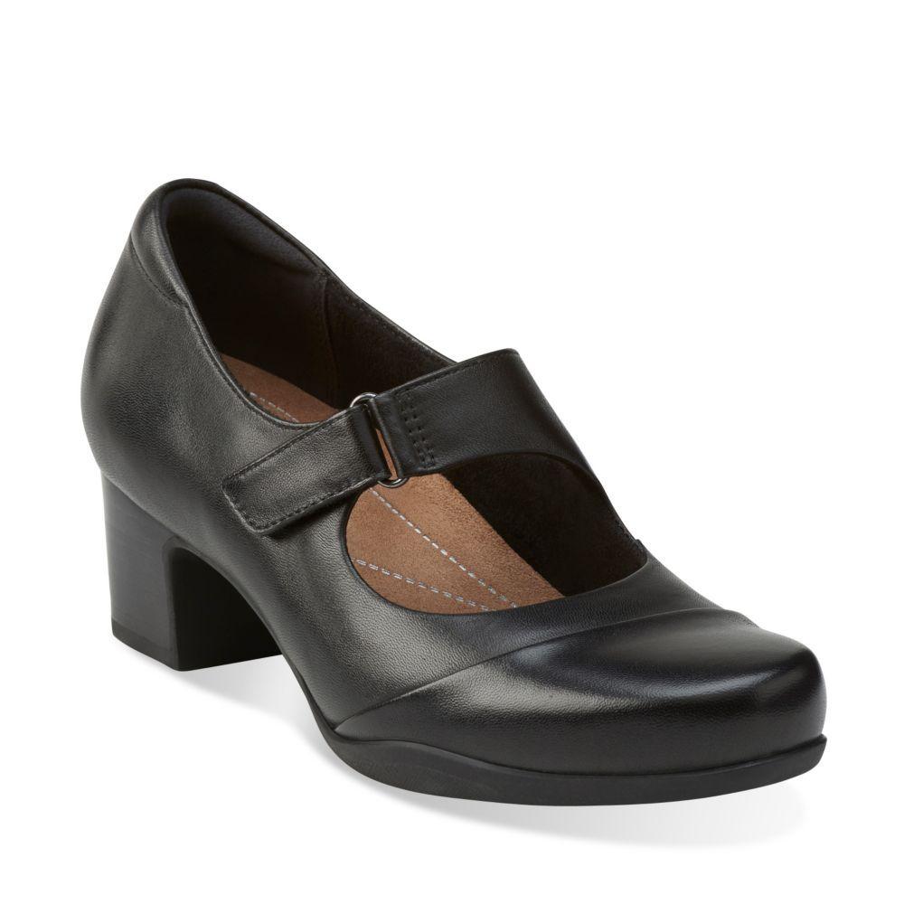 Clarks 'Rosalyn Wren' Ladies Wide Fitting Heels (Black)