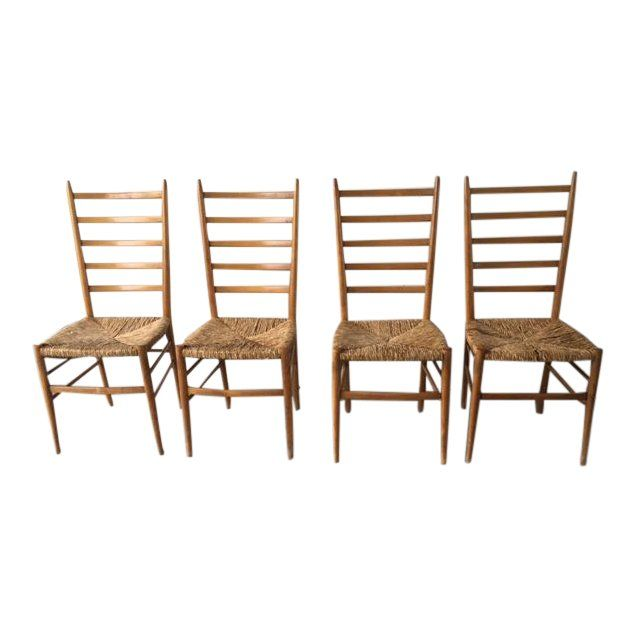 Monterey Style Ladder Back Accent Chair: Ponti Style Ladder Back Chairs - Set Of 4