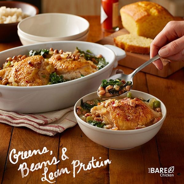 Talk about making your own luck. Black-eyed peas and greens are a traditional New Year's Day meal, and this recipe adds chicken for delicious lean protein and extra goodness.