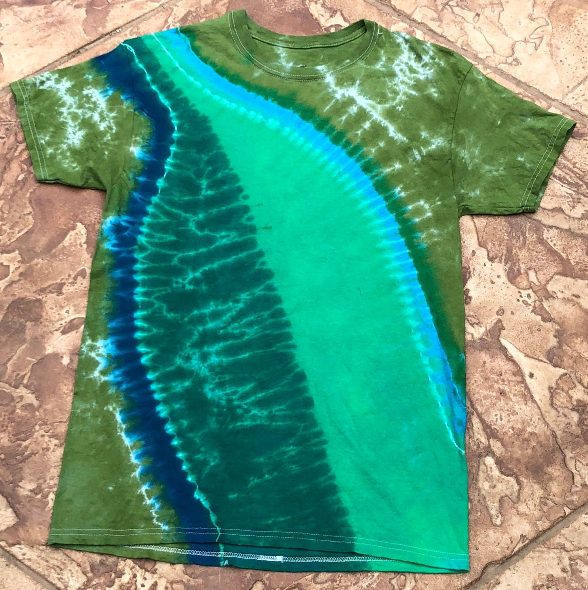 Reverse Green Leaf Tye Dye T Shirt Sizes S M L Xl 2x 3x 4x