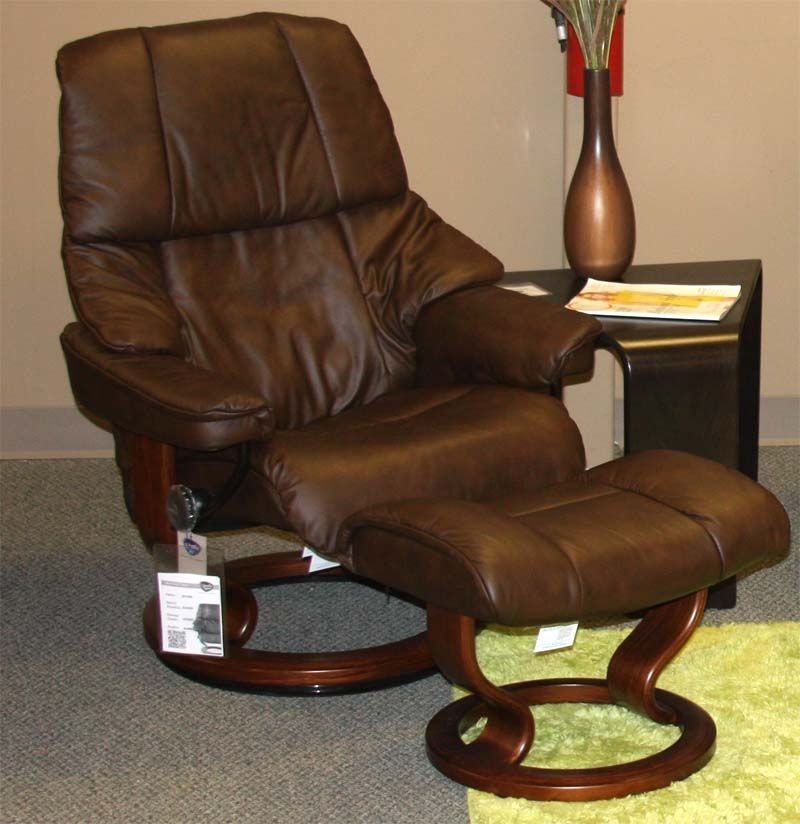 Stressless Tampa Paloma Chocolate Leather Recliner Chair