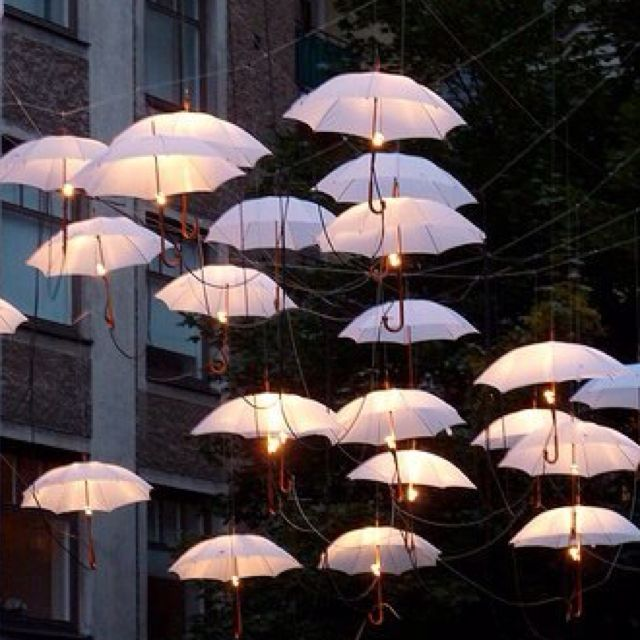 Not your average umbrella 5 unexpected ways to use umbrellas lighting for a girl party what a fun slumber party or evening pool party idea workwithnaturefo