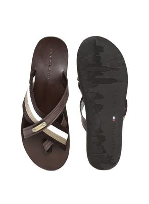 b3c0fd99899 Buy Tommy Hilfiger Brown Sandals for Men Online India