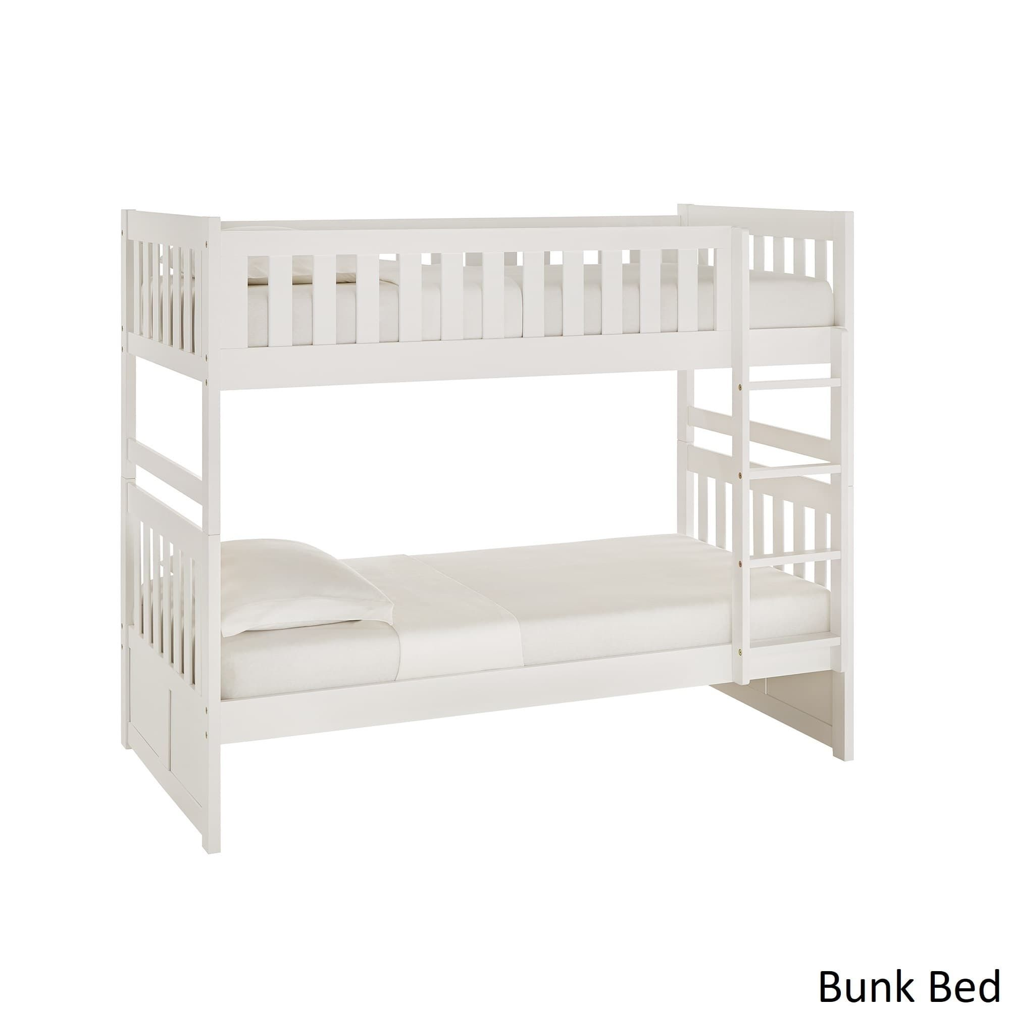 Hunter Twin Over Twin White Wood Bunk Bed By Inspire Q Junior