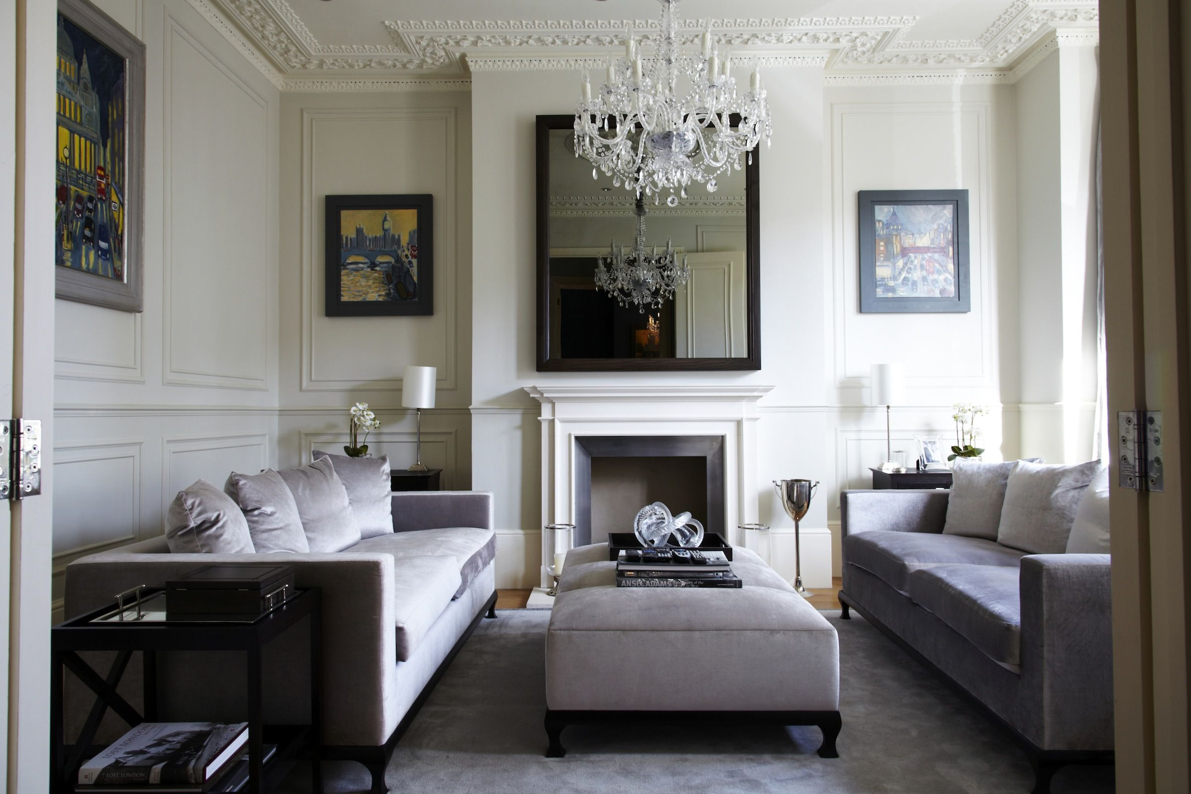 Living Room Contemporary Interiors Ideas For A Plain Wall Victorian Chic House With Modern Twist 517 Pinterest Interior Design 2