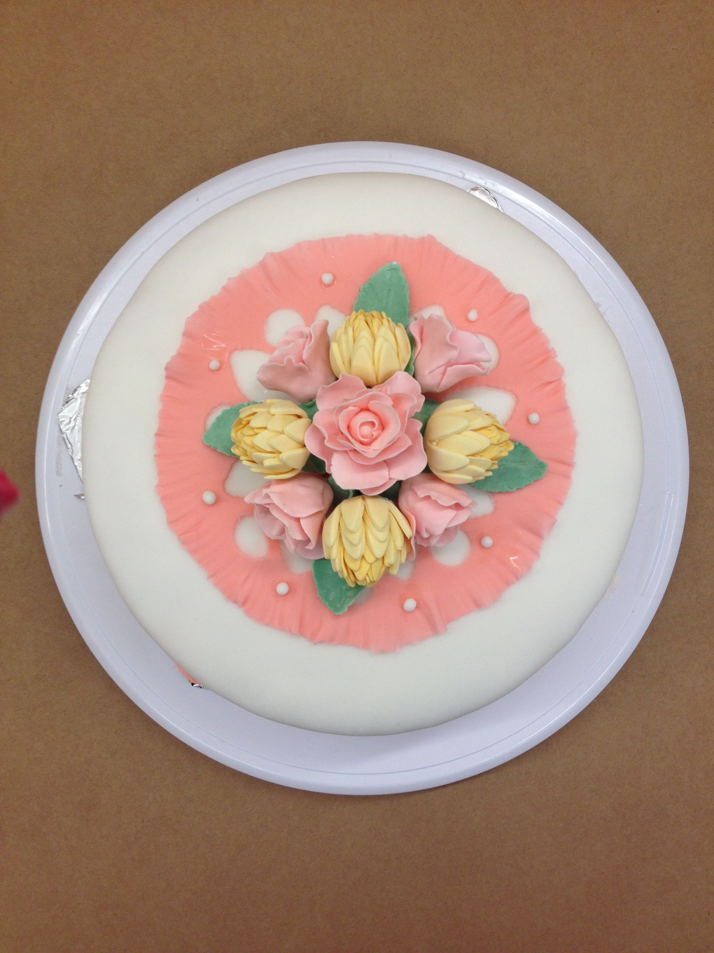 Wilton course 3 cake | Food galore | Pinterest | Cake, Cake designs ...