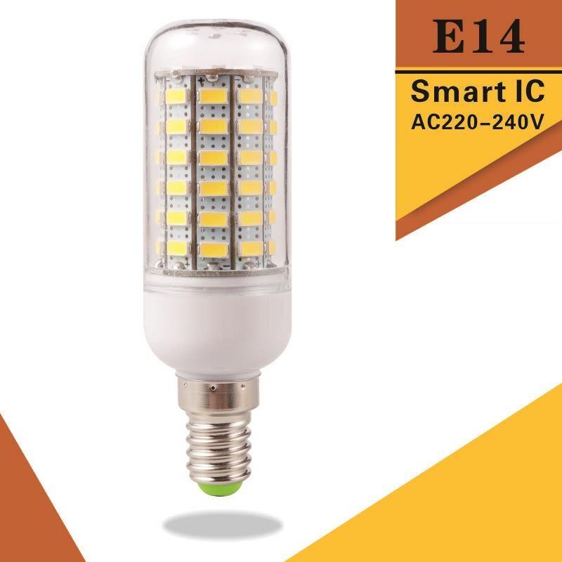 Super Bright E14 Led Bulb Light Replace Cfl 5w 12w 15w 20w 25w 30w 220v 240v Spotlight 5730smd 24 36 48 56 69 72 Leds Lamp Price 6 63 Free Shipping Hashta With Images