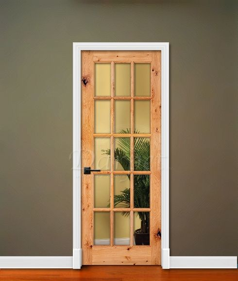 10 15 Lite French Clear Glass Knotty Alder Rustic 6 39 8 80 Darpet Interior Doors For
