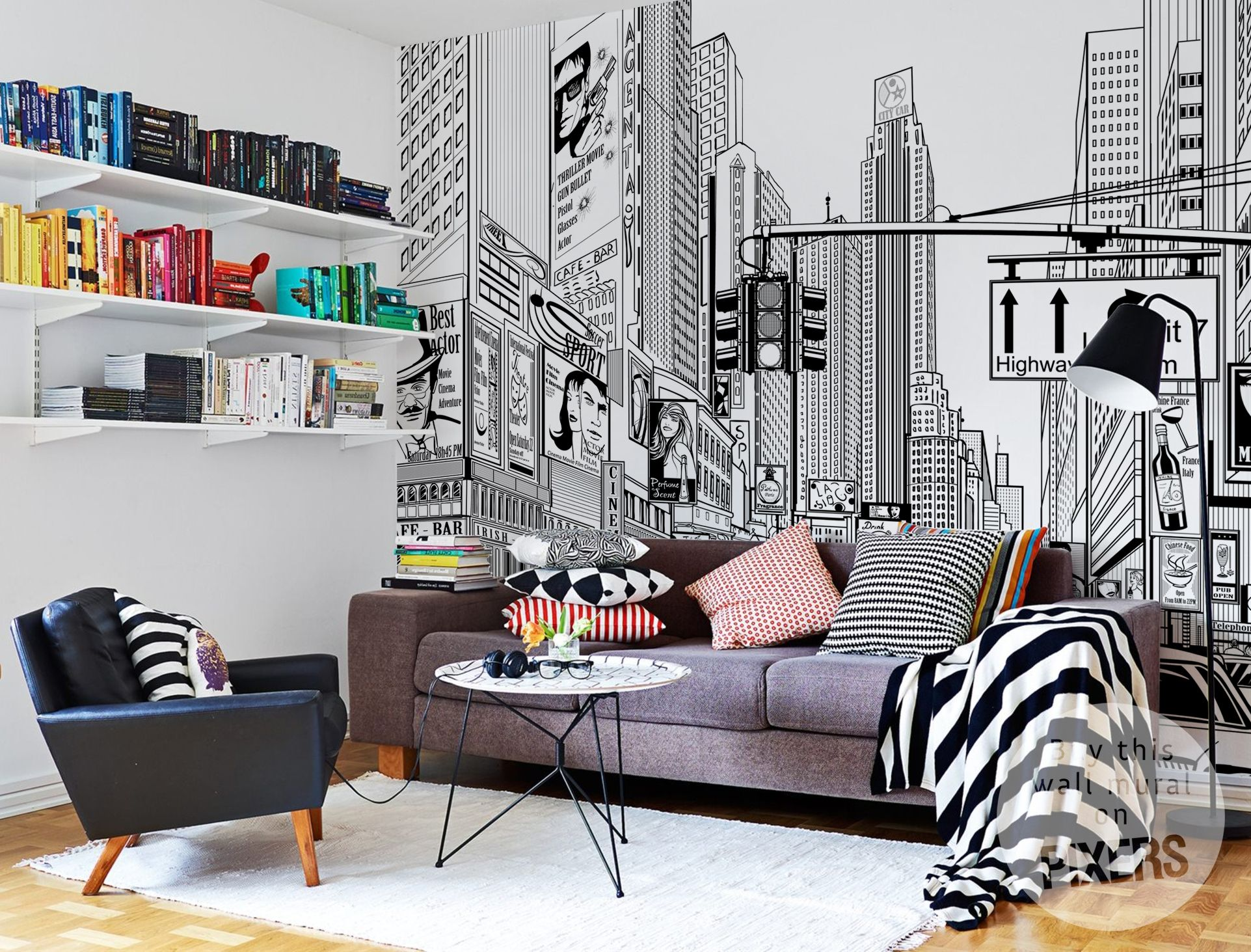 Amazing interior design <3 Wall mural by PIXERS