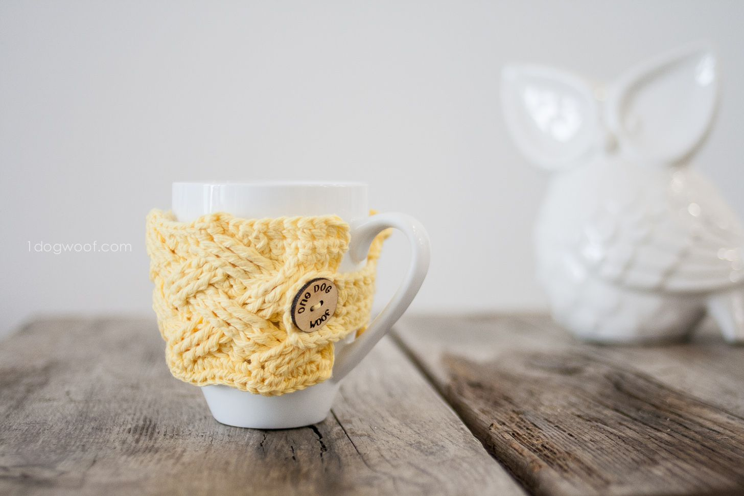 Woven Cables Mug Cozy Crochet Pattern | K & C: Cozies & \'C ...