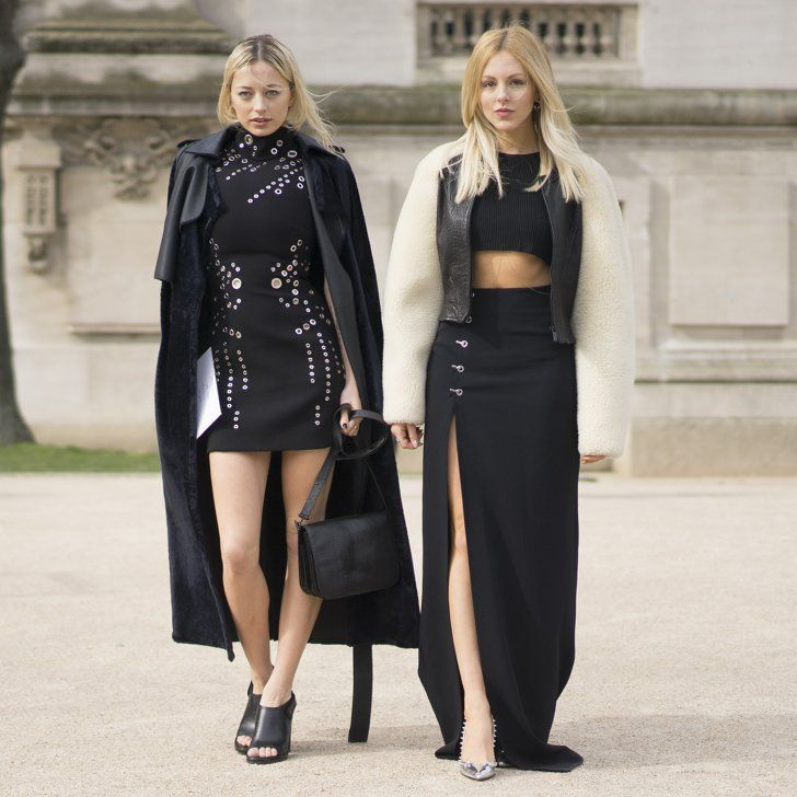 Pin for Later: The Best Street Style Snaps From Paris Fashion Week PFW five Carolien Vreeland and Shea Marie