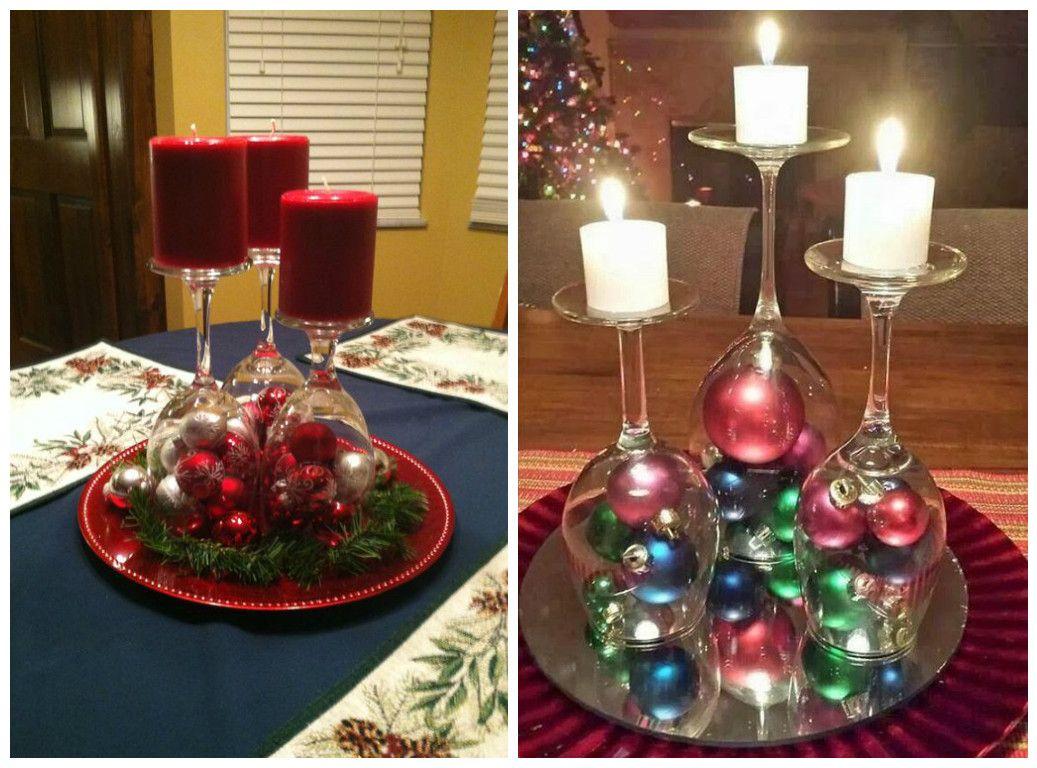 Souvenirs centros de mesa adornos navide os con copas si for Manualidades souvenirs navidenos