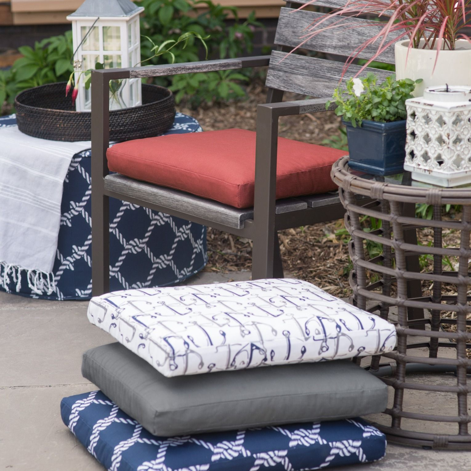 Genial Nautical Outdoor Seat Pad