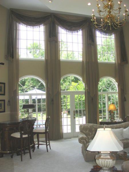 Long Bay Window Curtains