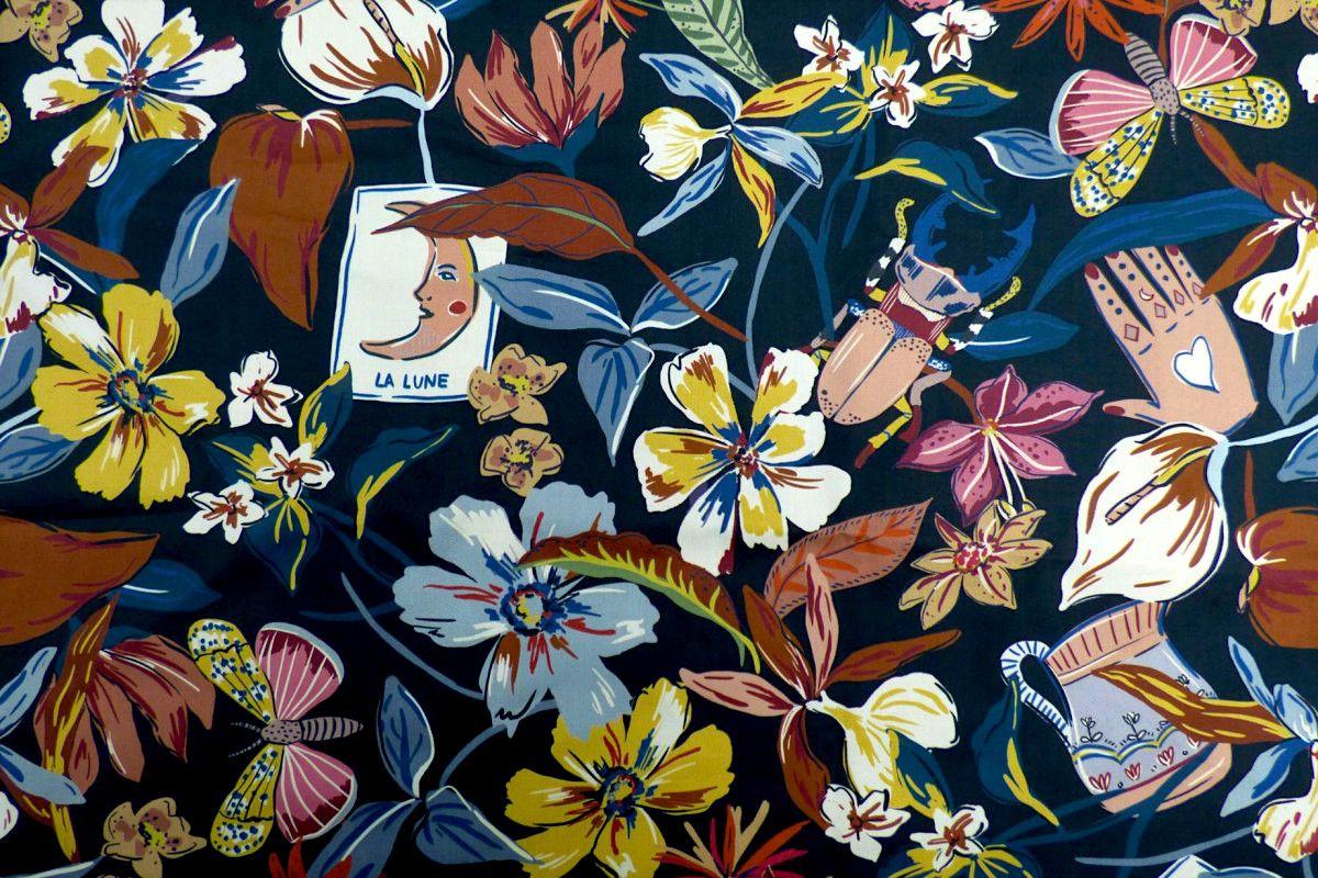 Lady McElroy - Cotton Lawn - Folk Magic - Black -