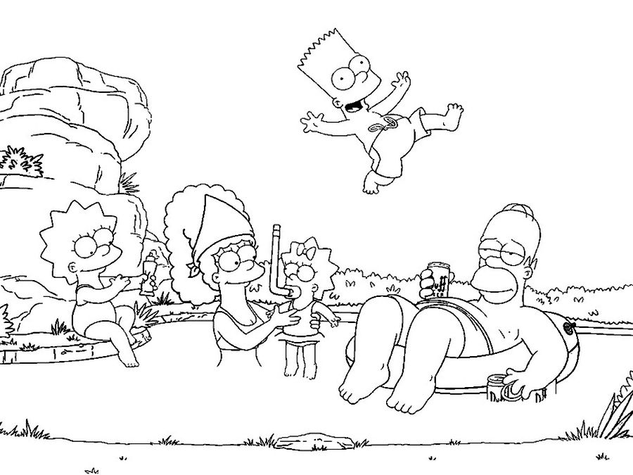 Free Sheets The Simpsons coloring pages for kids | appetizers ...