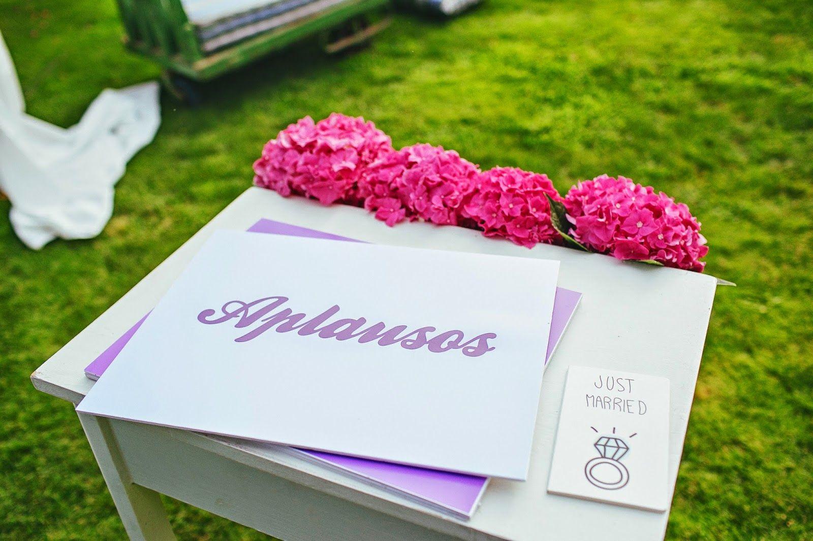wedding celebration flowers celebración boda flores aplausos decoración deco