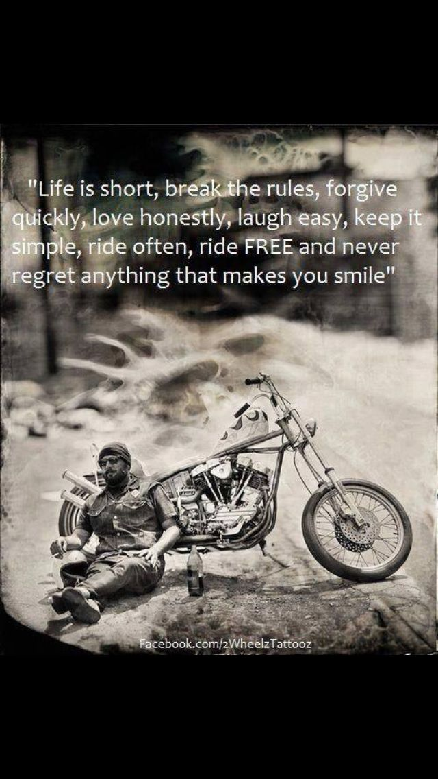 Life S Too Short Biker Quotes Motorcycle Quotes Bike Quotes