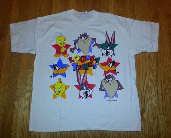 Vintage looney tunes denim shirts something also