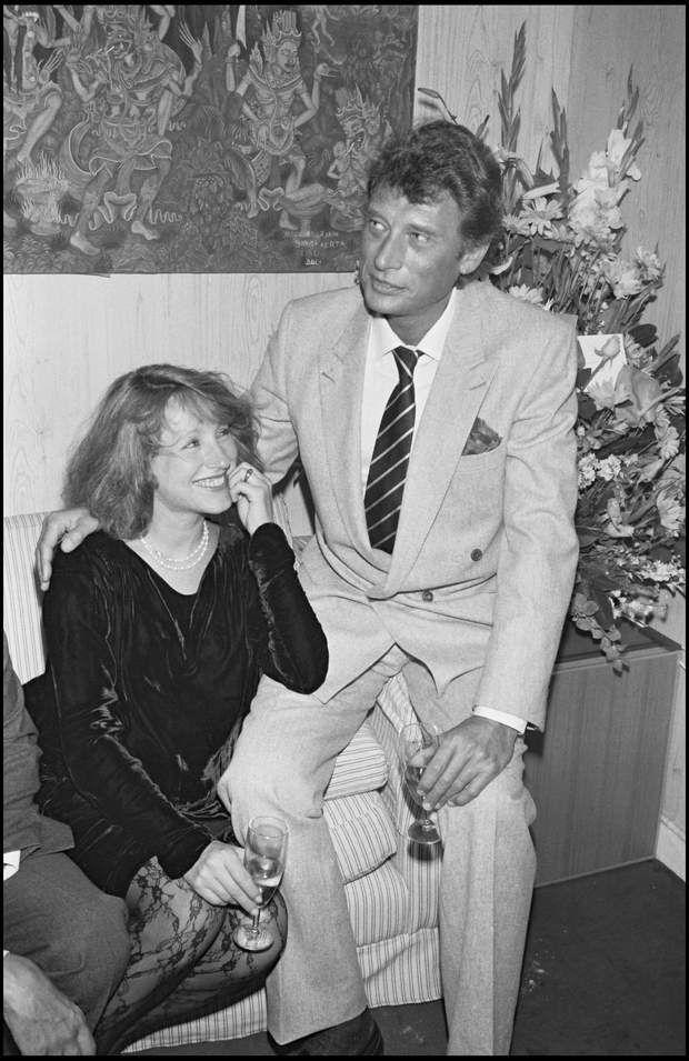 Johnny et Nathalie Baye