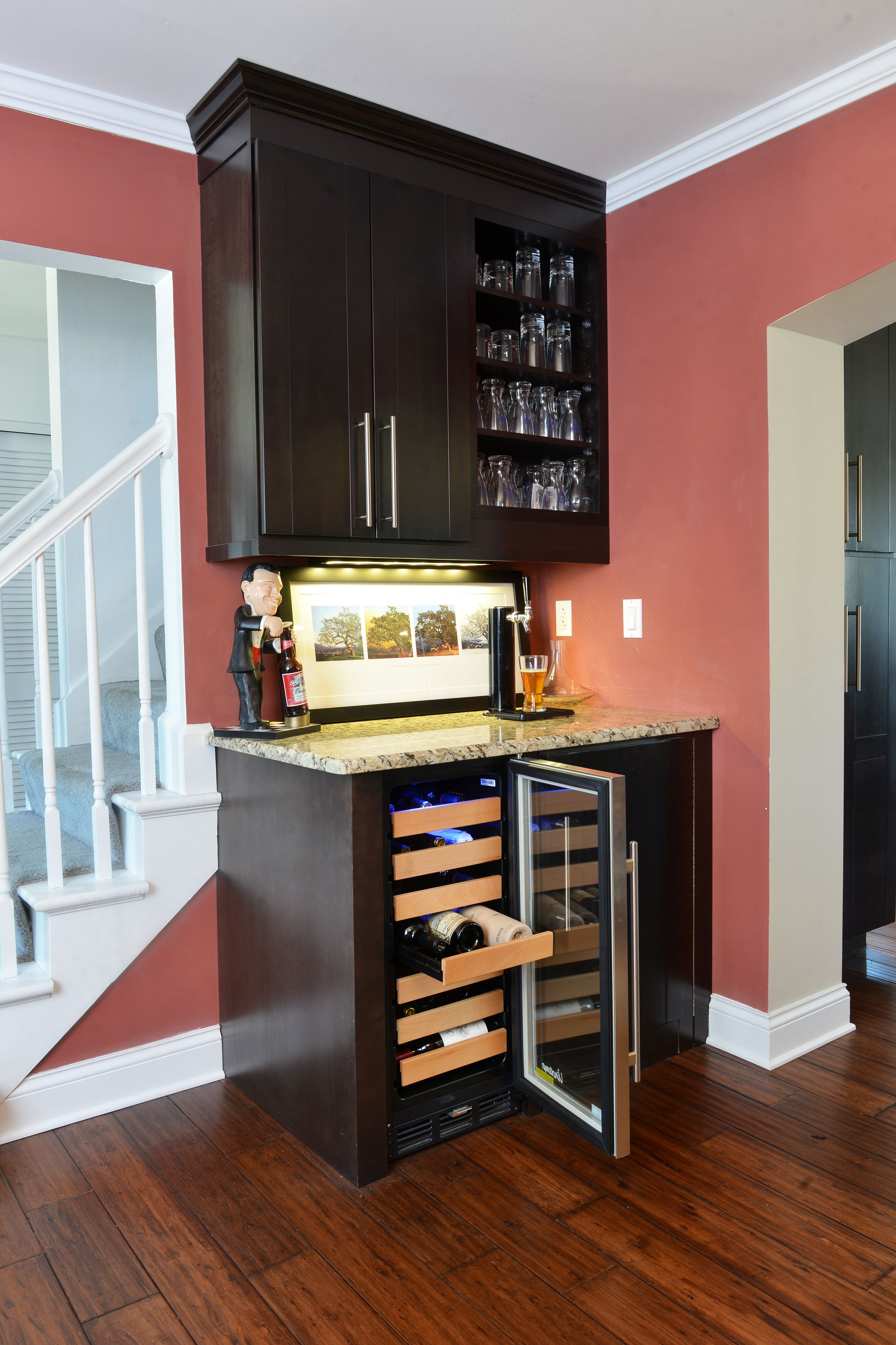 Elegant DH Custom Homes Custom Built Bar Great Features Including Wine Chiller  Drawers, Beer Tap, And Hidden Kegerator!