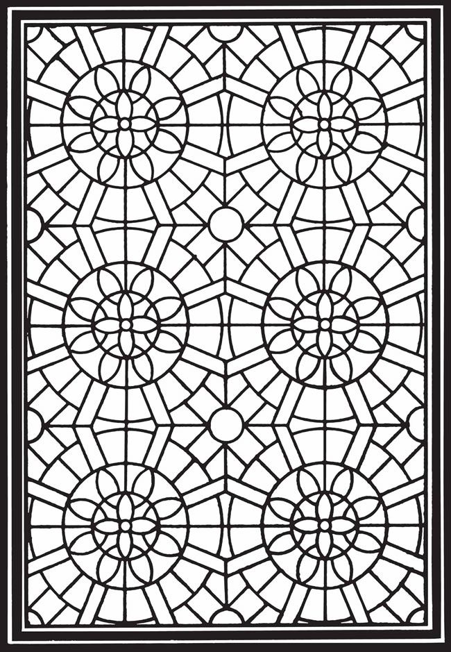 Geometric Genius Stained Glass Coloring Book | Stained Glass ...