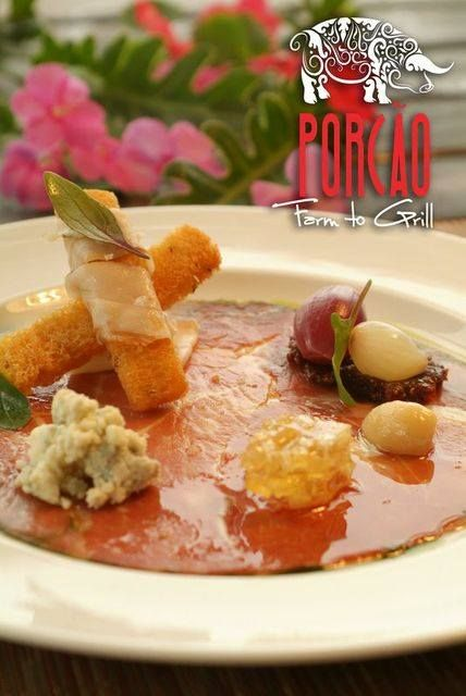 "Porcao's ""Pass around"" Menu features this charcuterie plate, an exquisite mix of flavors and textures. Prosciutto, Gorgonzola & Lardo- tropical honeycomb, fig preserves, pickled onions, crisp rye ...hungry yet? www.porcaogrill.com www.rocinc1.com #porcaomiami #upscalefood #farmtogrill"
