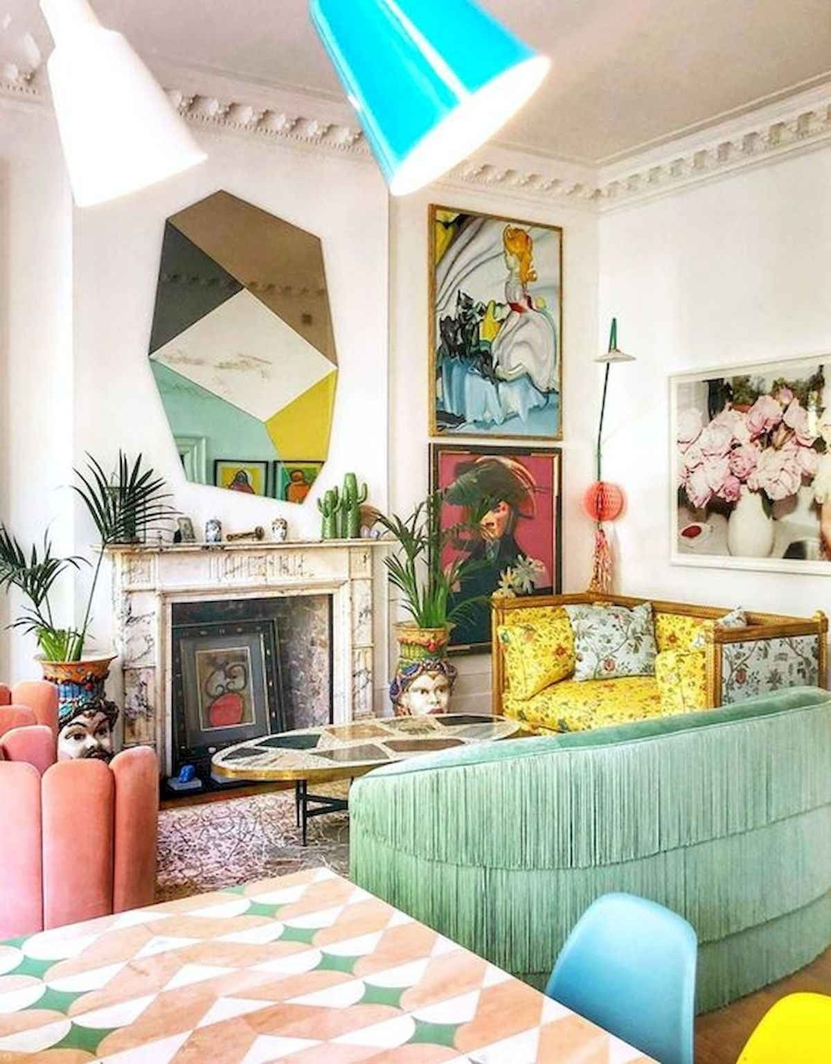 80 Stunning Colorful Living Room Decor Ideas And Remodel For Summer Project Colorful living room pics