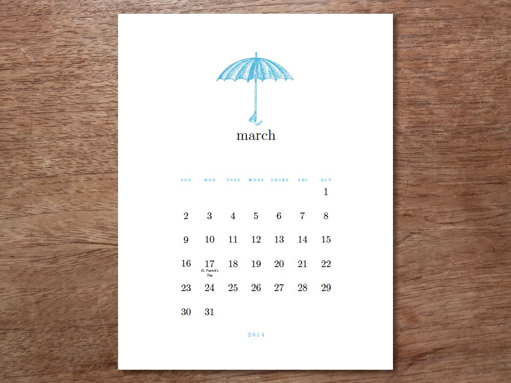 Printable Calendar  Simple Woodcuts  Printable Calendars And Template