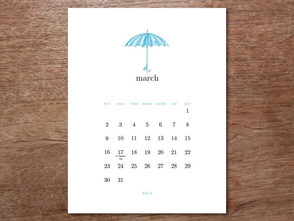 Printable Calendar  Simple Woodcuts  Printable Calendars And Template