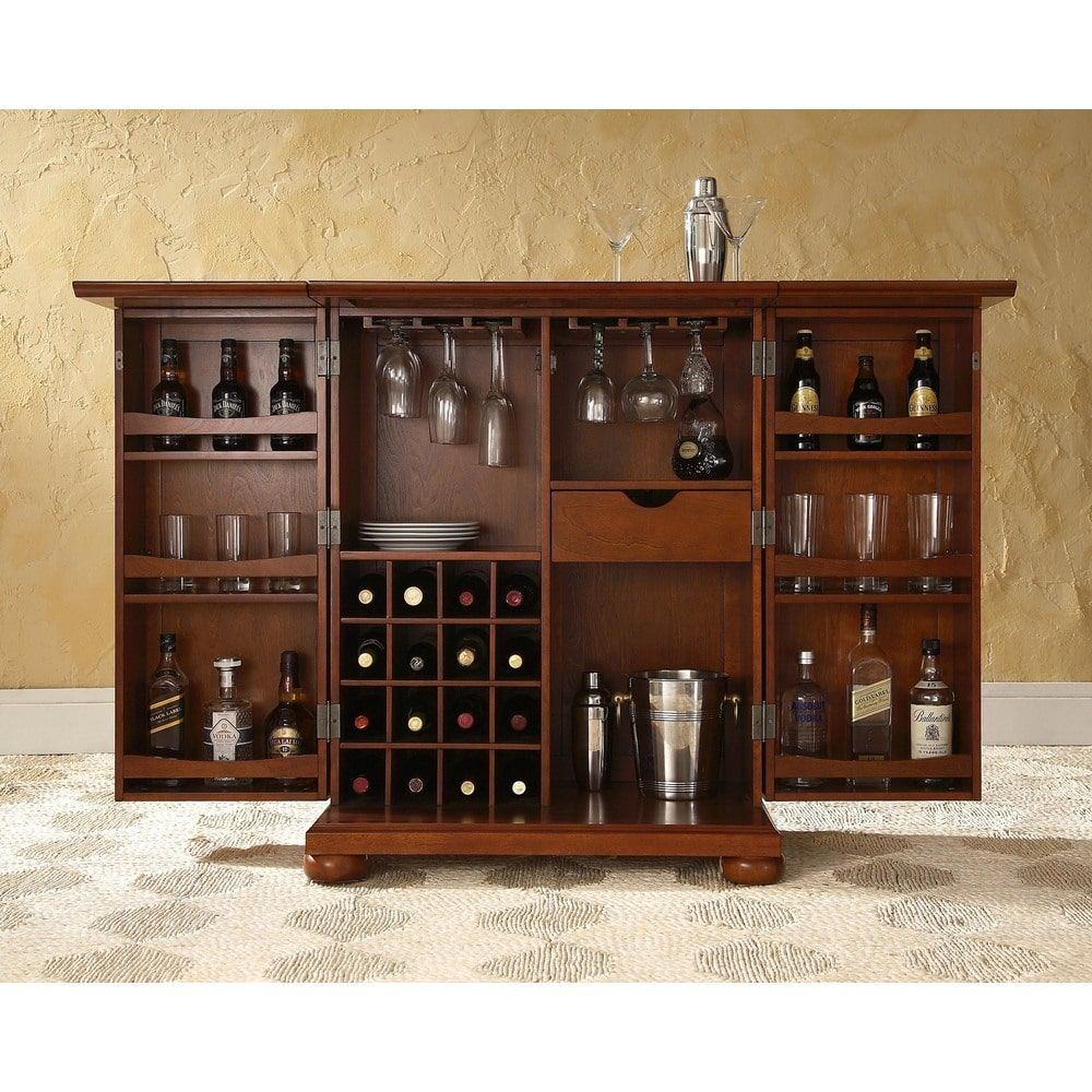 Charmant Alexandria Vintage Mahogany Expandable Bar Cabinet | Overstock.com Shopping    The Best Deals On